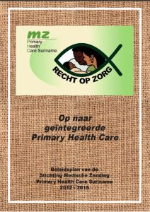 Medische Zending Beleidsplan 2012 - 2015
