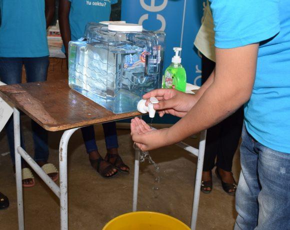 Medische Zending voert samen met UNICEF 'Handen wassen project' uit